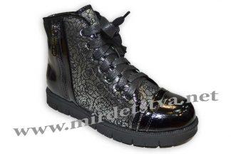 Ботинки для девочки B&G ZKK2817-46 черные