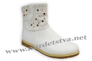 Подростковые нарядные ботинки для девочки Baby sky H777-A белые