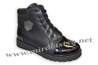 Ботинки для девочки Tops 733-15 черный лак