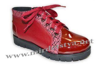 Ботинки для девочки Tops Д40_15 бордовые