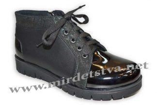 Ботинки для девочки Tops Д40_15 черные кожа_лак1