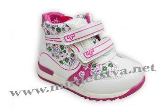 Ботинки для девочки Ytop G205-1 белые