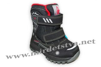 Ботинки для мальчика BG термо RAY175-16 черные