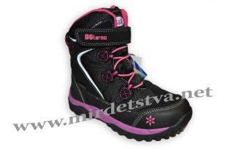 Ботинки зимние для девочки B&G термо R181-608 черно-розовые