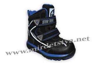 Ботинки зимние для мальчика B&G термо BG187-58 черные