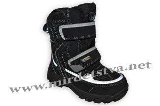 Ботинки зимние для мальчика B&G термо BG187-61 черные