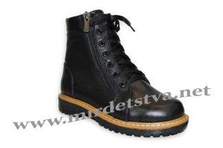 Ботинки зимние для мальчика Tops ЗД-735_н черные