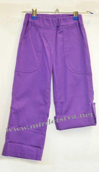 Брюки-капри для девочки Илифия 403 фиолетовые