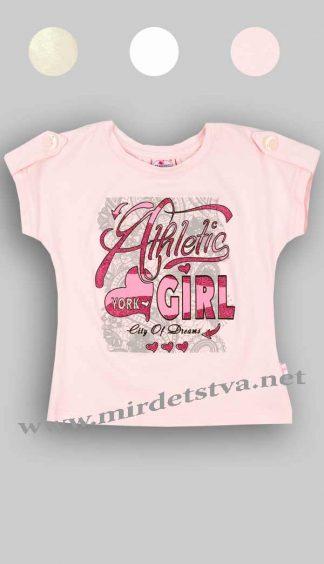 Футболка для девочки Фламинго 903-416 розовая фото