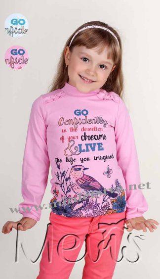 Гольф Mevis 1830-02 для девочки розовый фото