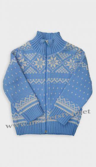 Кофта детская Gusenica «Снежинка» голубая