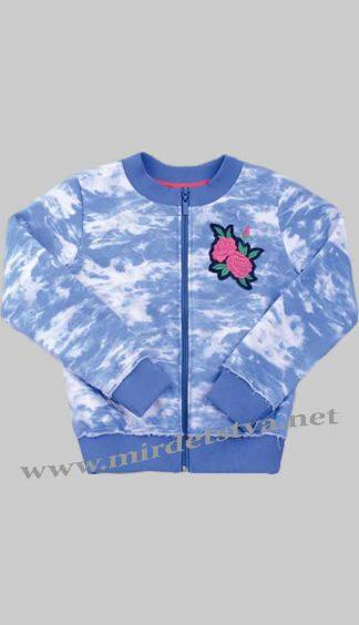 Кофта для девочки Бемби КФ118 синего цвета
