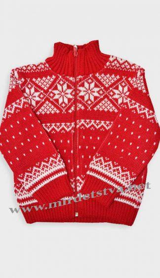 Кофта для девочки Gusenica «Снежинка» красная