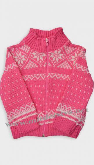 Кофта для девочки Gusenica «Снежинка» розовая