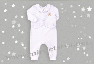 Комбинезон крестильный для малыша Бемби КБ113
