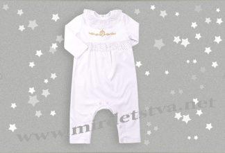 Комбинезон нарядный для новорожденного Бемби КБ114