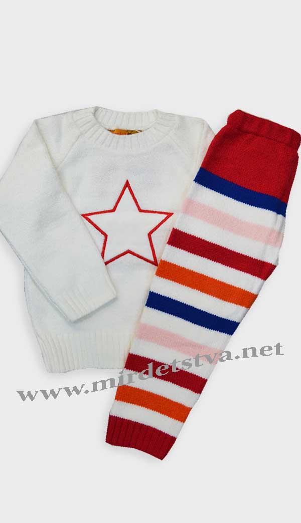 купить костюм вязаный детский Gusenica звезда белая в харькове по