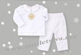 Крестильный костюм для малыша Бемби КС526