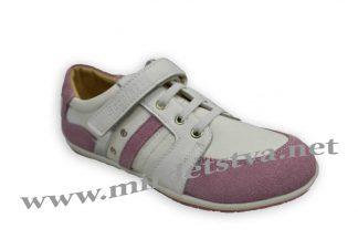 Кроссовки для девочки Scarlett B186 бело-розовые