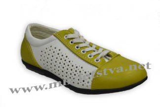 Кроссовки для девочки Scarlett B284 бело-оливкового цвета