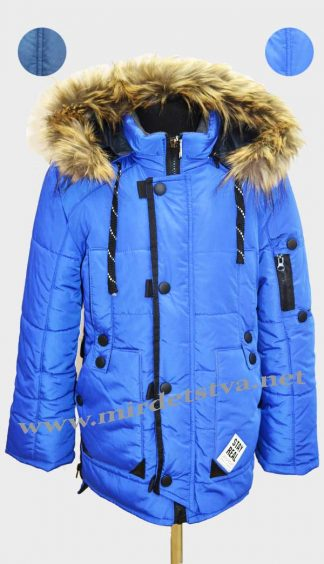 Куртка зимняя для мальчика Sport my style M-2 синий фото