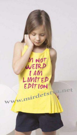 Майка летняя для девочки Овен 16М1-225 желтая