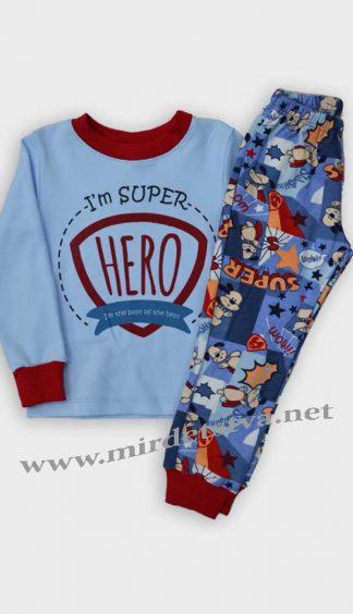 Пижама для мальчика Бемби ПЖ39 голубая