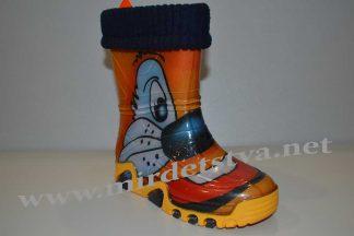 Детские резиновые сапоги Demar Stormer Lux Print I 0033 оранжевые