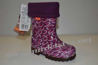 Резиновые сапоги для девочки Demar Twister Lux Print 0038 фиолетовые