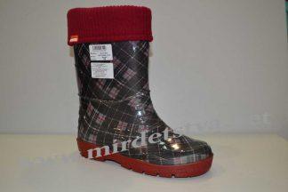 Резиновые сапоги для девочки AlisaLine Color 401 шотландка красная