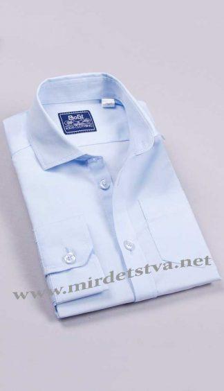 Рубашка для мальчика BoGi 001.001.0174.19 голубого цвета