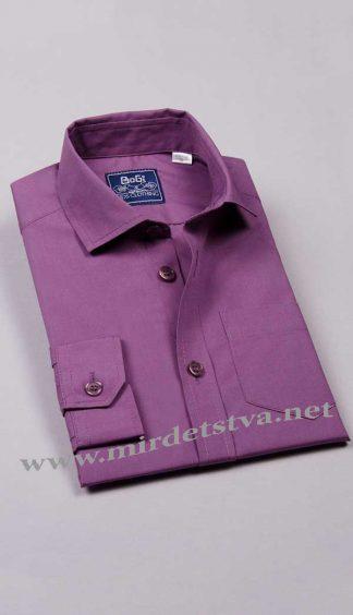 Рубашка для мальчика BoGi 001.001.0252.39 сиреневая