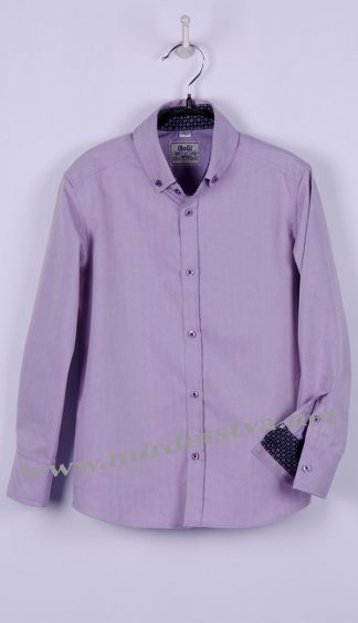 Рубашка для мальчика BoGi 004.003.0280.22 сиреневая