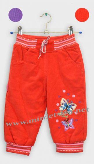 Штаны для девочки утепленные Bayram 1240 красные - фото