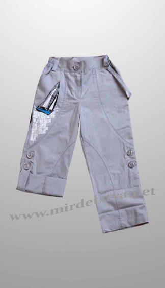 Штаны летние для мальчика Бемби ШР104 серого цвета