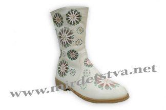 Подростковые сапоги для девочки Baby sky H118 beige белые