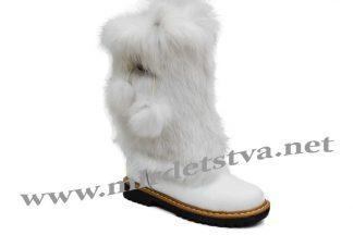 Сапоги для девочки Tops ЗДК-65_15 белые