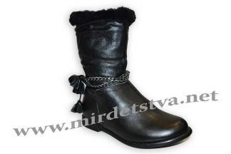 Зимние детские сапоги для девочки Scarlett A231 черные