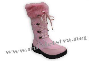 Сапоги зимние для девочки Scarlett A443 розовые