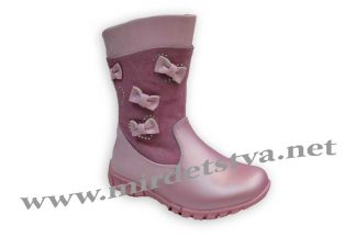 Зимние детские сапоги для девочки Scarlett H-421 розовые