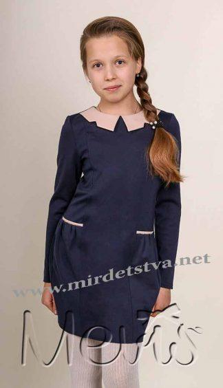Платье школьное Mevis 1848-01 для девочки синий