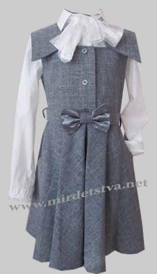 Сарафан школьный для девочки Balu Д-404 серый