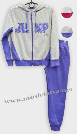 Спортивный костюм для девочки Бемби КС520 серо-фиолетовый фото