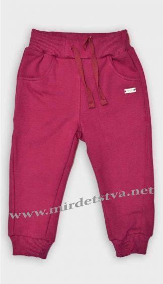 Утепленные штаны для девочки Бемби ШР428 бордовые