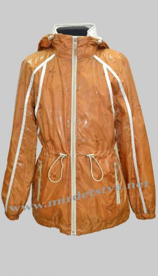 Ветровка для девочки Nestta Zlata 05 коричневая