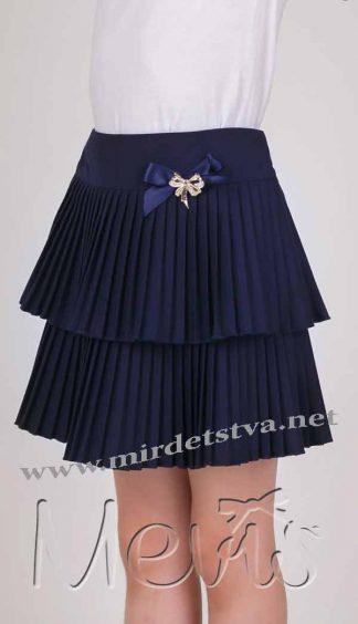 Юбка Mevis 1679-01 синяя
