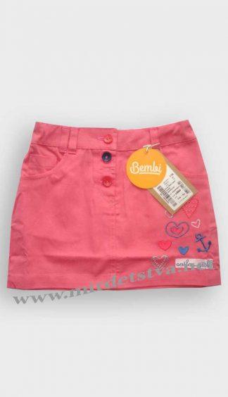 Юбка летняя для девочки Бемби ЮБ64 розовая