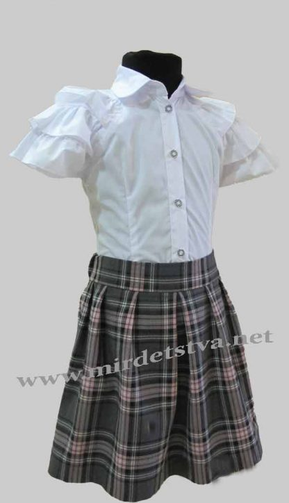 Юбка школьная для девочки Balu Д-701 клетка