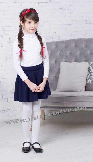 Юбка школьная для девочки Новая форма Fiona синяя