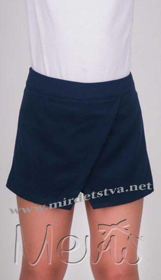 Юбка-шорты школьные для девочки Mevis 1612 синие